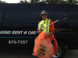 Meet our current Highway Beautification Specialist taking a quick break before hitting the highway again.