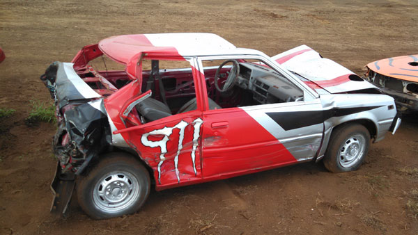 Kihei Rent A Car does the Demolition Derby